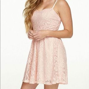 dELiA*s Baby Pink Lace Sundress with Back Zip